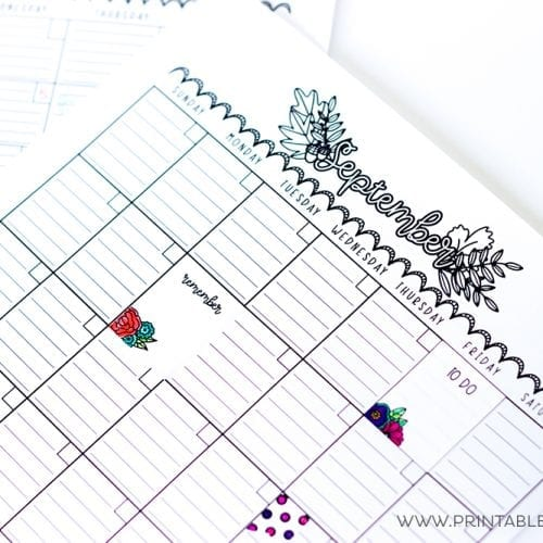 Cricut Print and Cut FREE Printable Planner Stickers