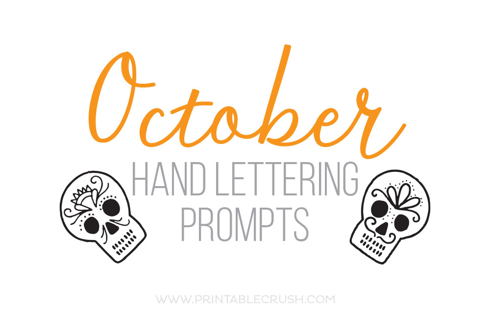 OCTOBER HAND LETTERING PROMPTS