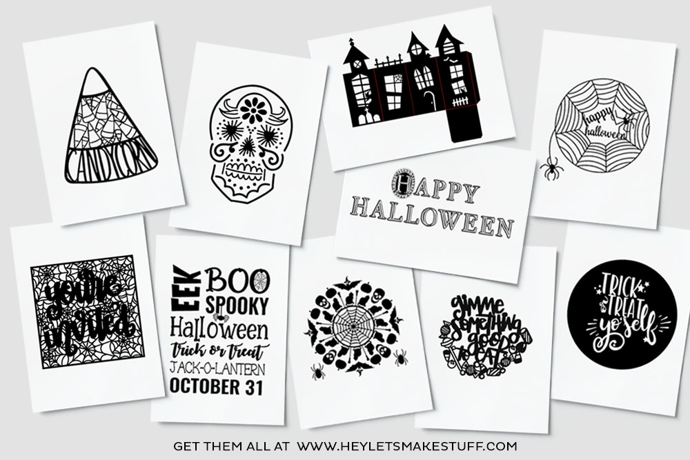 This AMAZING Halloween SVG File bundle includes 10 intricate designs. Available for September 2017 ONLY!!
