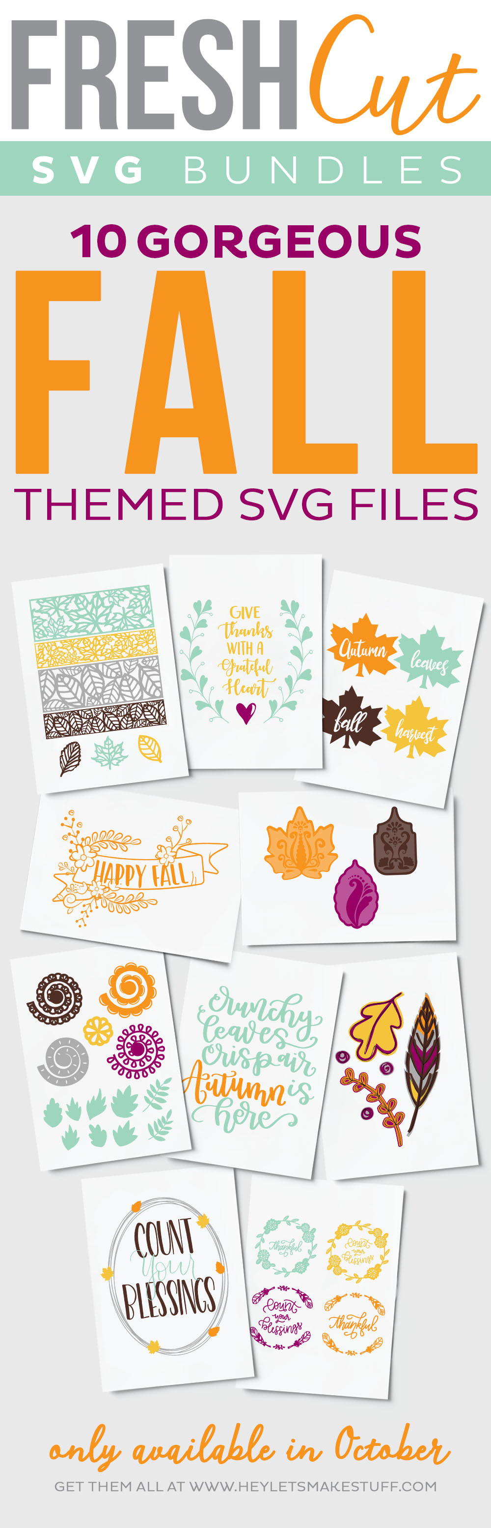 10 Gorgeous Fall Themed SVG Files