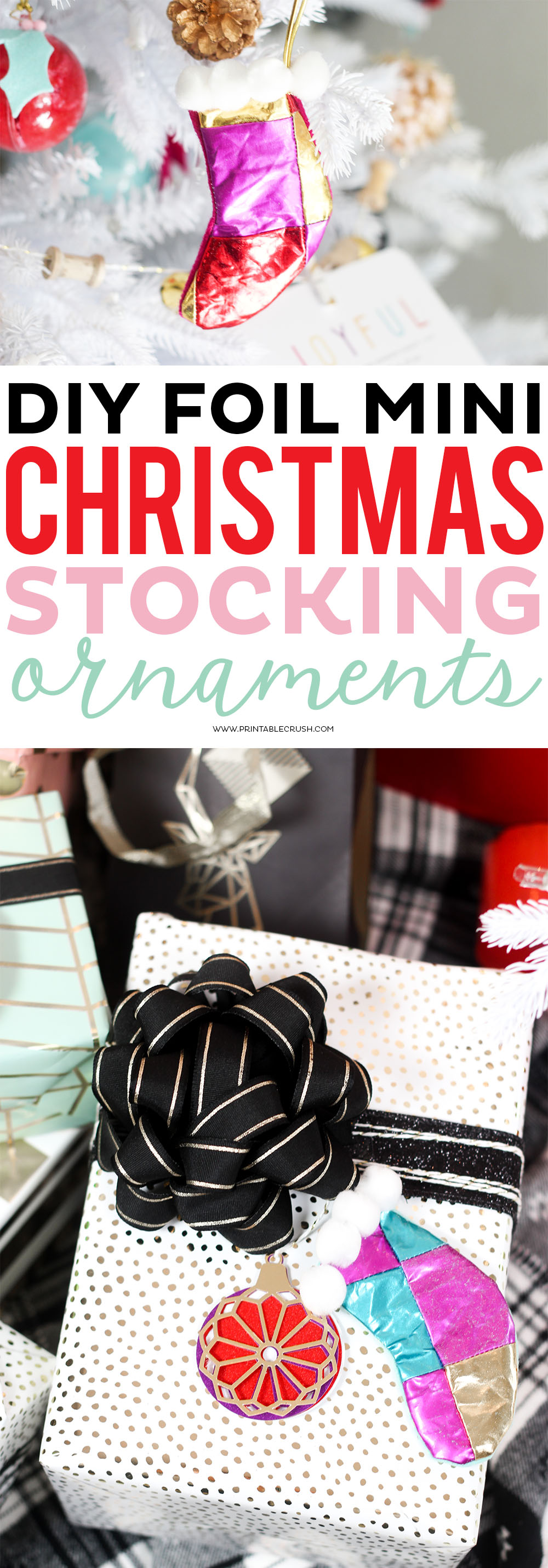 These Mini Stocking Ornaments are so cute, and they can also double as gift tags!