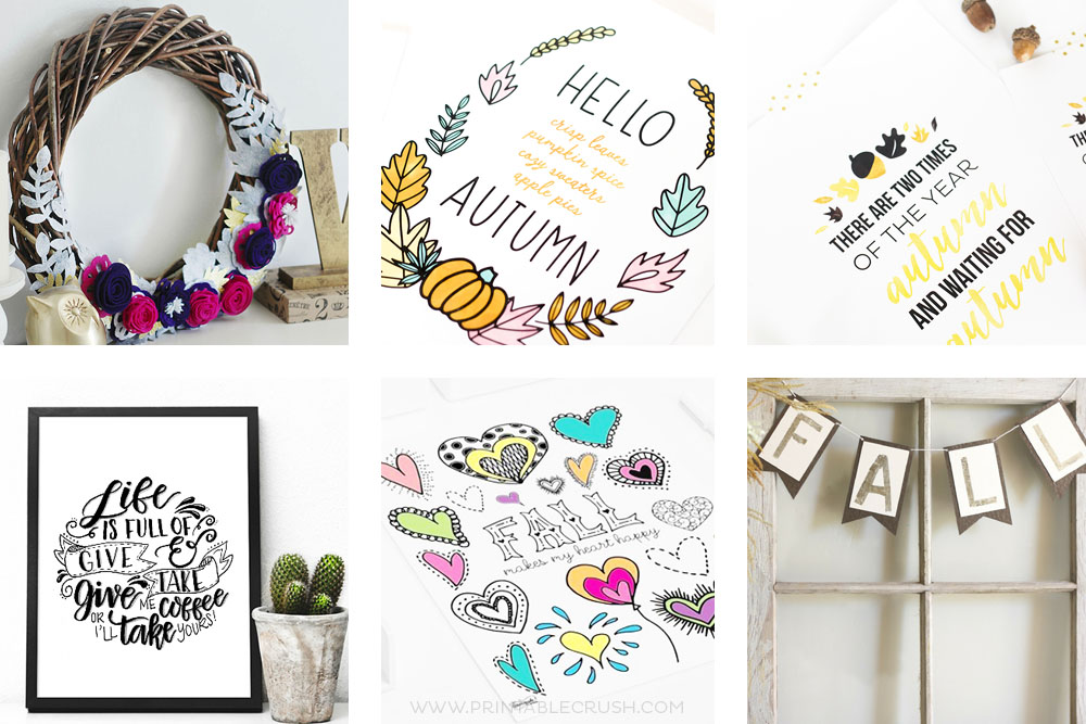 13 Lovely Fall Printables and Crafts