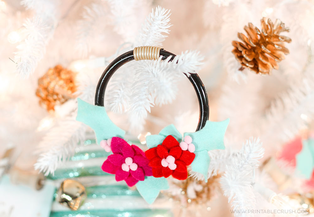 Mini Felt Wreath Ornament Tutorial