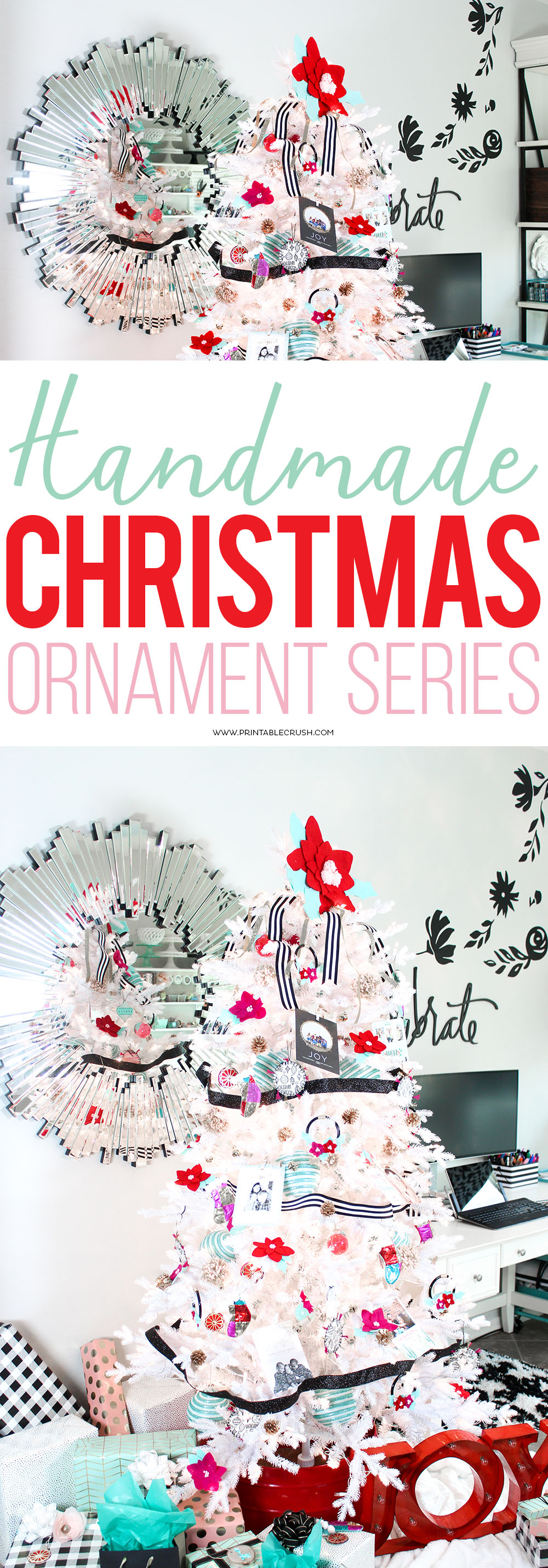 Join in on the Handmade Christmas Ornament Series. I'll be sharing garlands, sewing tutorials, DIY crafts, felt ornaments, and more!