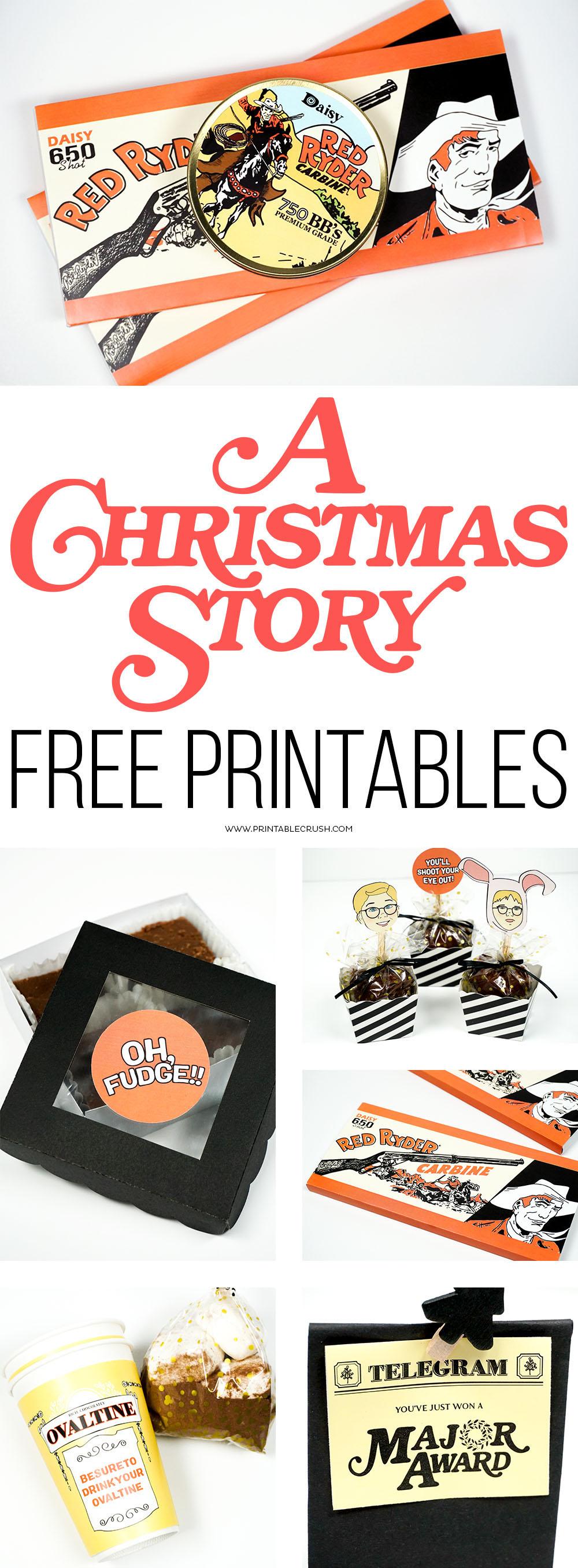 A Christmas Story FREE Printables