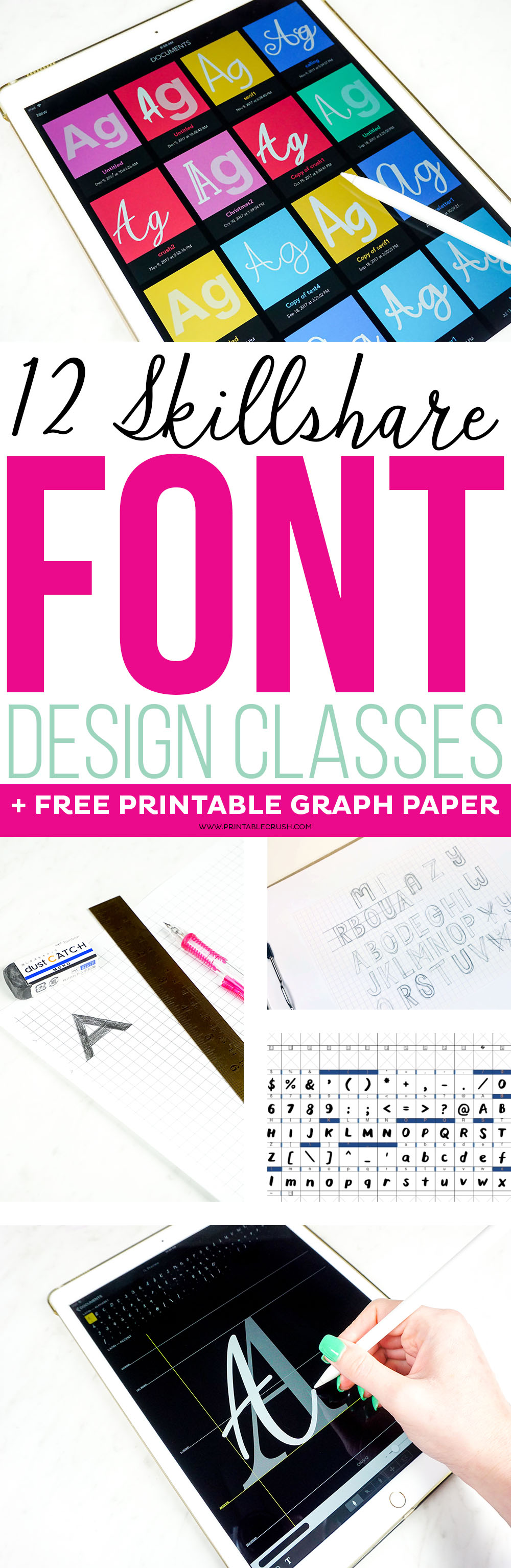 Whether you want to create fonts for personal use or for profit, check out these 12 Skillshare Font Design Classes to learn the basics of typography and font creation.