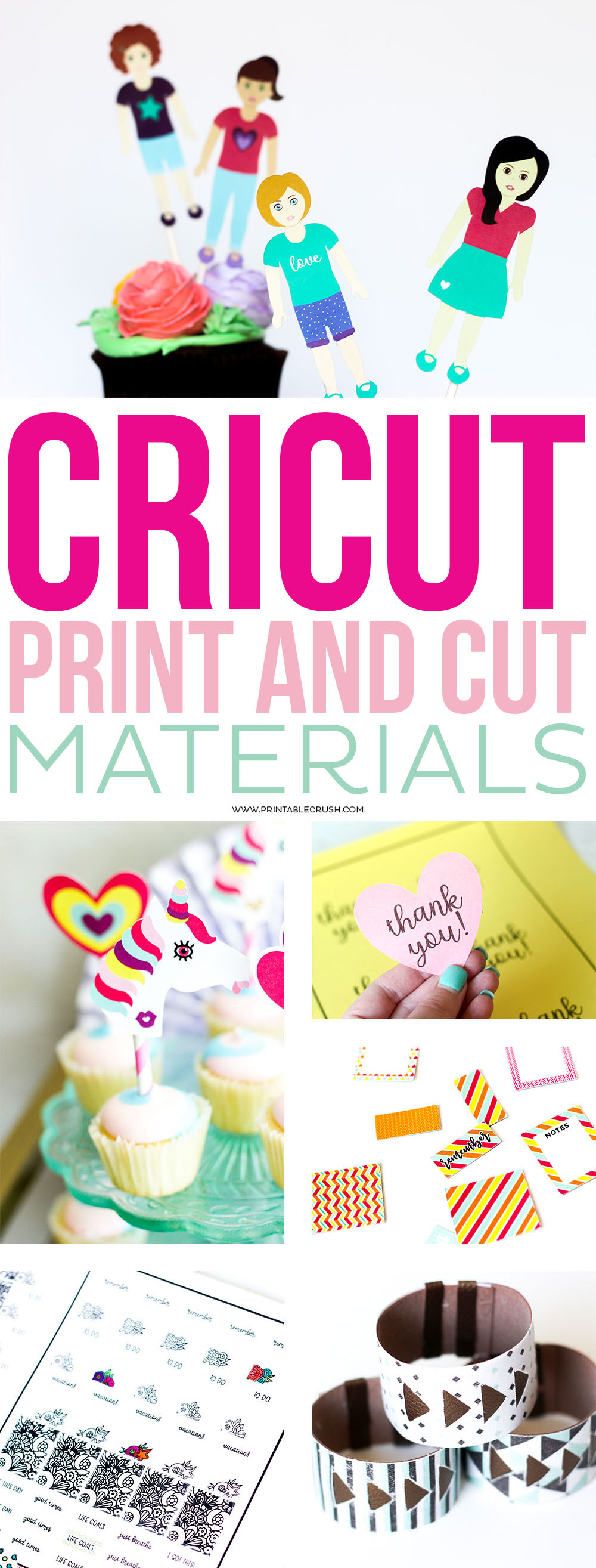 There are so many Cricut Print and Cut Materials you need to explore! This is such a great feature and will make you love your Cricut Maker even more!