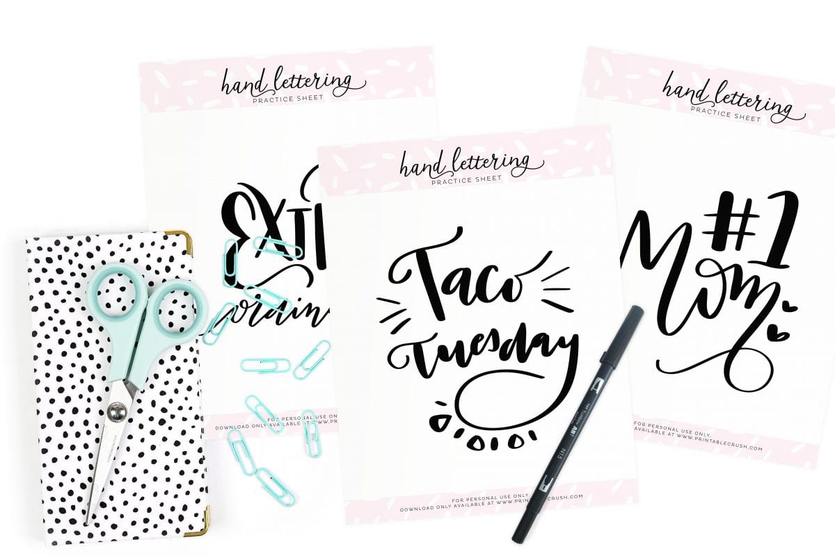 May Lettering Prompts