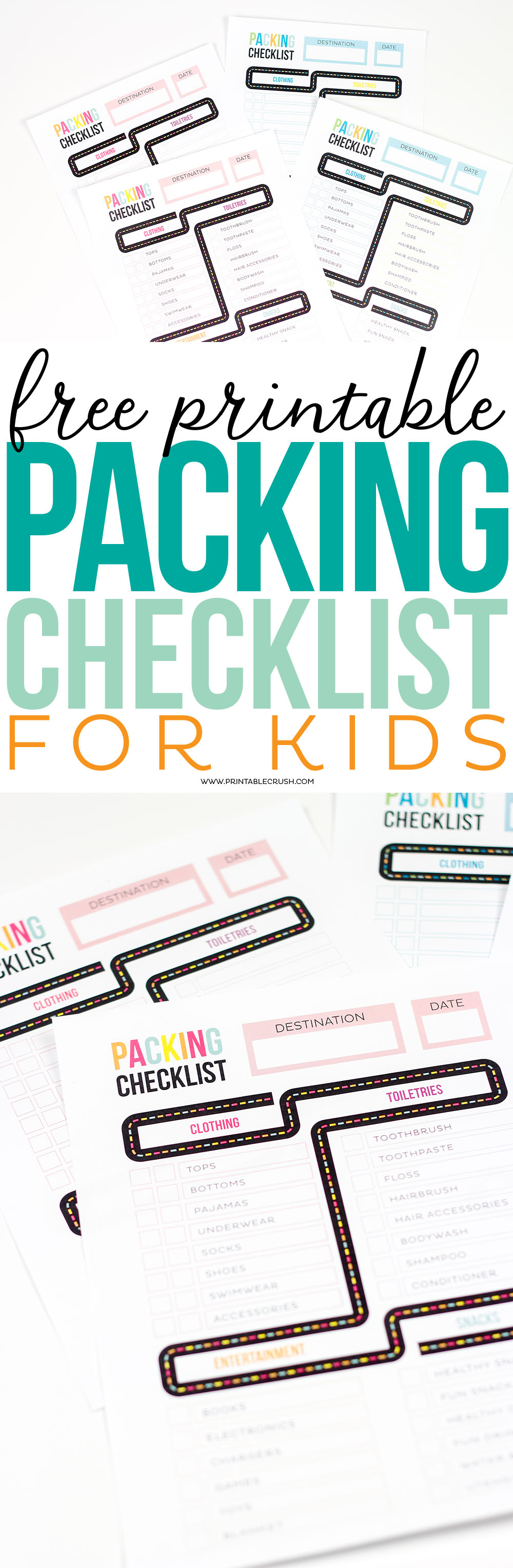 get ready for your family vacation with this free printable packing list for kids it - Free Kids Printable