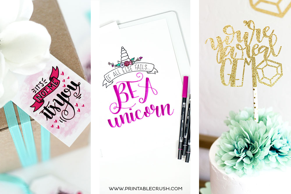 FREE Funny Hand Lettering Printables and Files