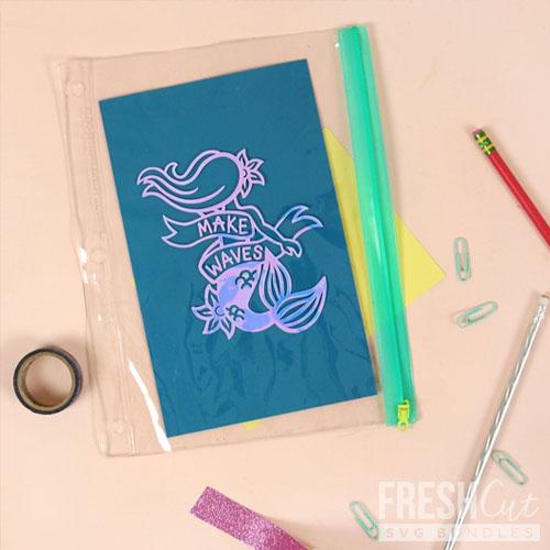 Mermaid pencil bag