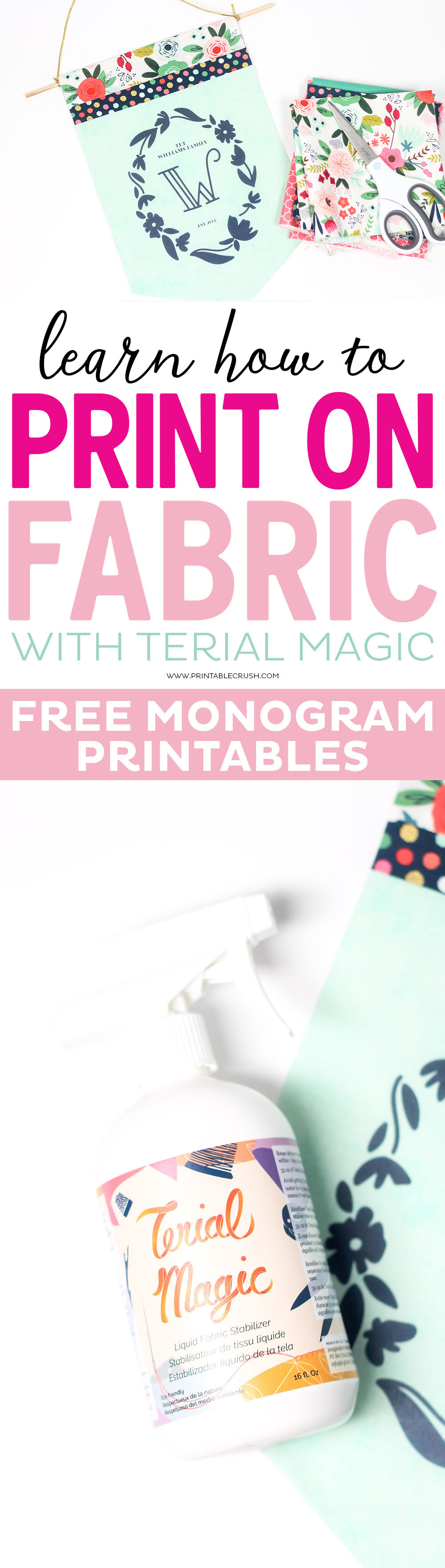 Learn how to Print on Fabric with Terial Magic Fabric Stabilizer.