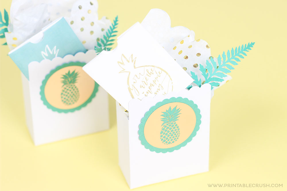 Free Printable Pineapple of My Eye Teacher Gift Card Holder