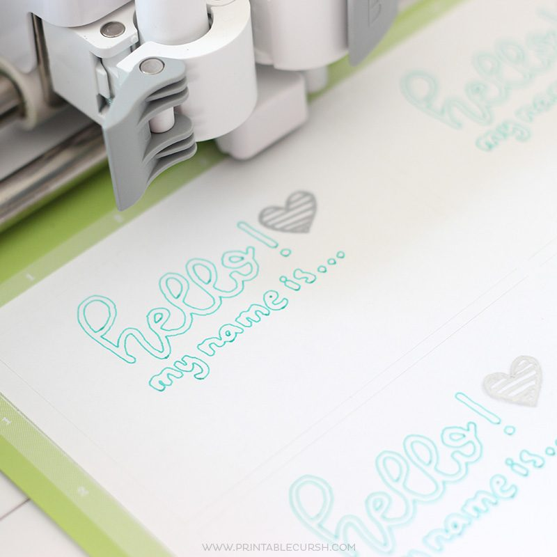 Learn how to Use the Cricut Pen for Hand Lettering Projects with this super quick and easy tutorial. No need for photoshop...just use your phone and Cricut Design Space!